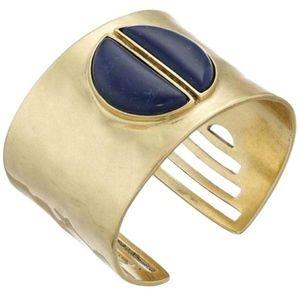 Lucky Brand Lapis Blue Cuff Bangle Bracelet NEW